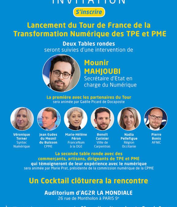 Lancement du Tour de France de la Transformation Numérique des TPE